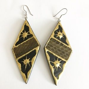 Vintage Geometric 80's Lightweight Earrings